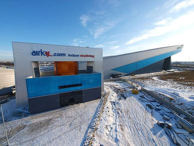 Airkix Manchester wind tunnel and indoor ski slope