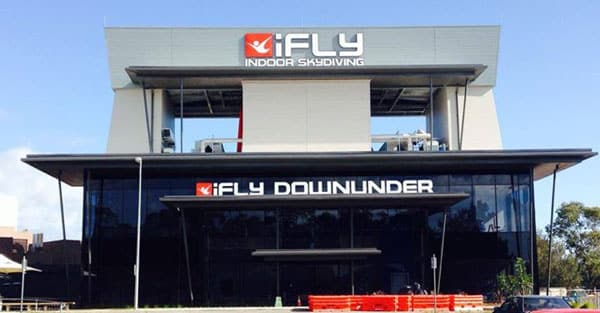 iFLY Downunder exterior 16 ft wind tunnel