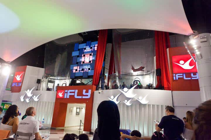iFLY Dubai 1 and 2 side by side tunnels