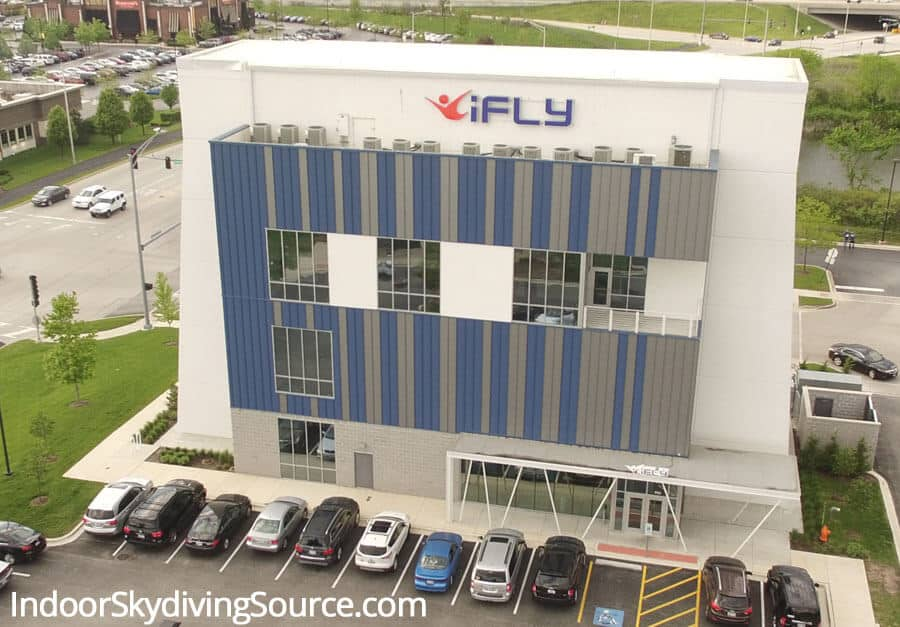 Front of iFLY Chicago in Naperville
