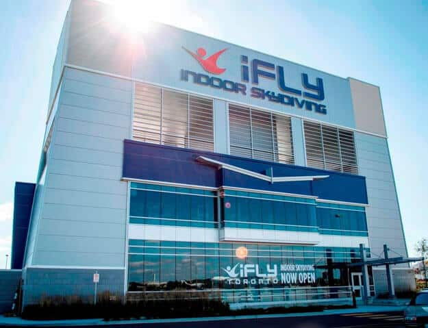 iFLY Toronto 14 ft recirculating wind tunnel