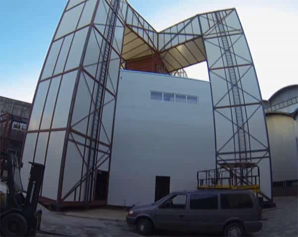 Skyward custom built recirculating wind tunnel in Hungary
