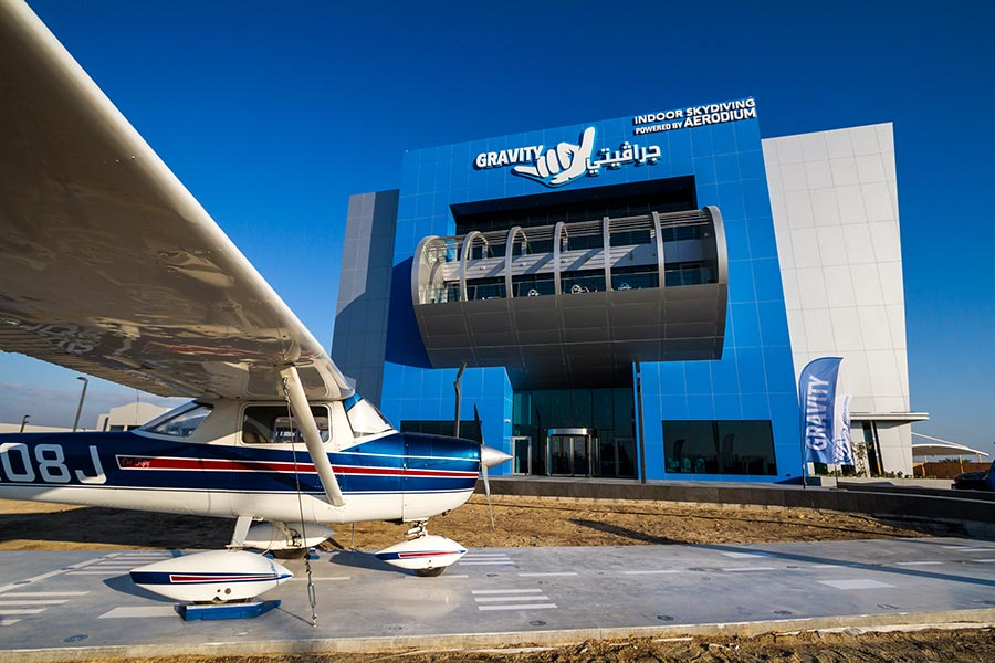 Gravity Indoor Skydiving Facility Exterior