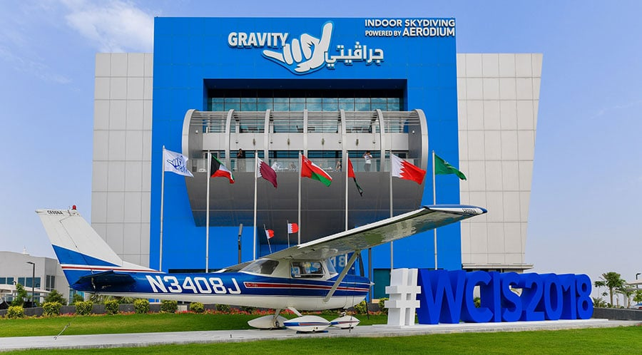 External View of Gravity Indoor Skydiving