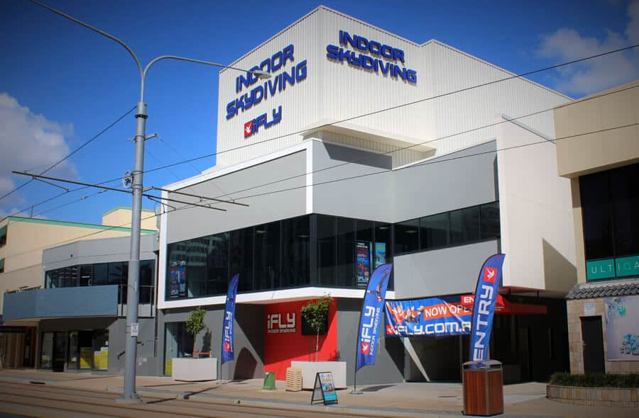 Outside the iFLY Gold Coast Facility