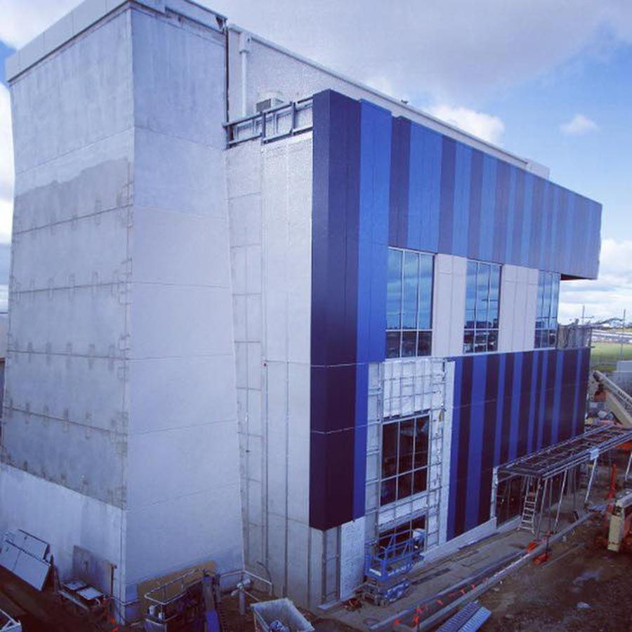 iFLY Melbourne exterior during construction