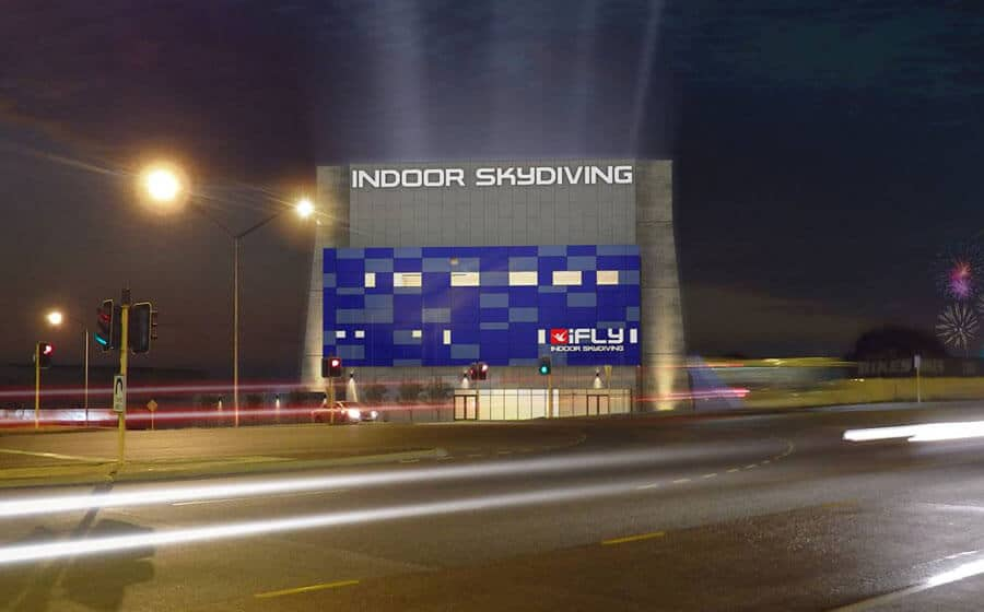 iFLY Perth Night Rendering