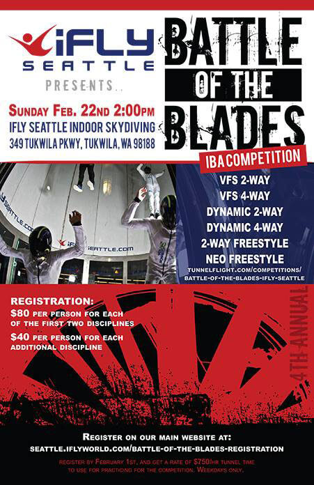 iFLY Seattle Battle of the Blades Flyer