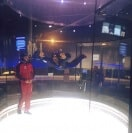 A first time flyer at iFLY Oklahoma City