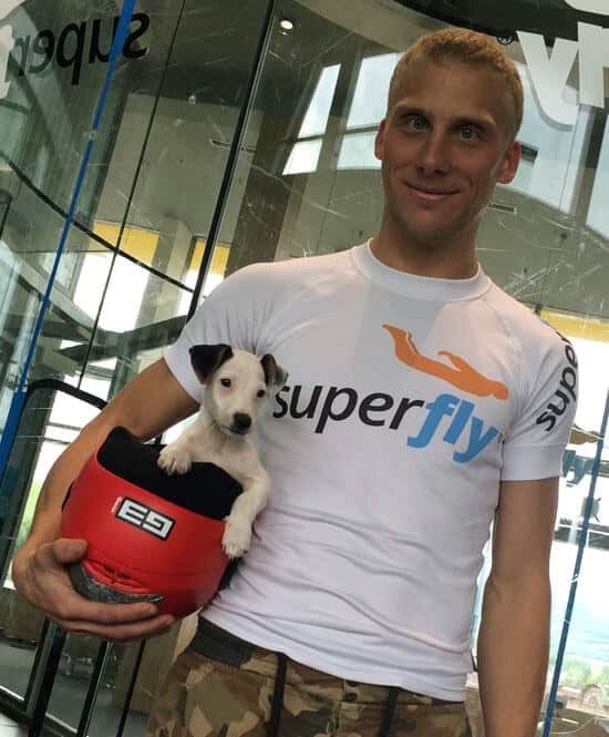Tomas Koren and Puppy