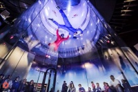 A first time flyer doing a high flight at iFLY Houston Woodlands.