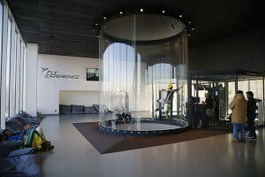 The flight chamber at Fly Experience in Italy