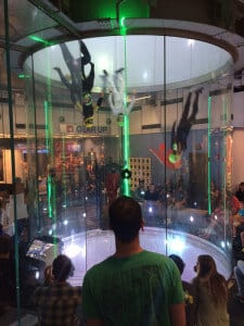 A photo taken during the D4W flying at the iFLY Chicago Naperville The Untouchables competition.