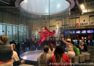First time flyers at iFLY Dallas in Texas