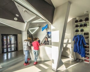 Reception area at Skyfly in Russia