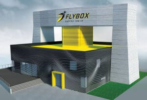 Rendering showing the final treatment of FlyBox.