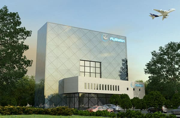 A rendering of the future wind tunnel located in Munich.