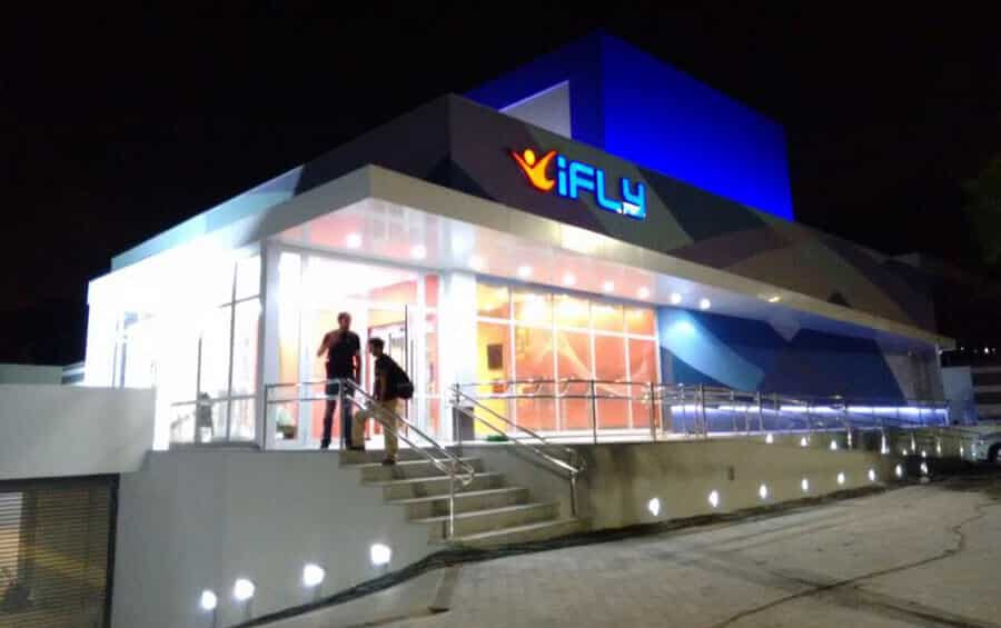 iFLY Sao Paulo Facility at Night