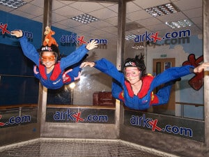 To kids flying at Airkix Milton Keynes