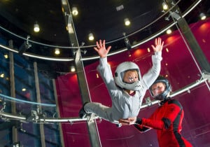 A young flyer at the wind tunnel in Finland.