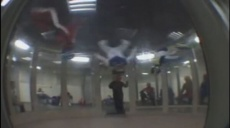 A screen capture from a video showing flyers in 2008 in Spain.
