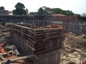 The concrete work is starting to come together at the site of iFLY Sao Paulo Pinheiros