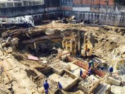 A photo showing the beginning stages of the construction process of the first iFLY corporate location to open in Brazil.