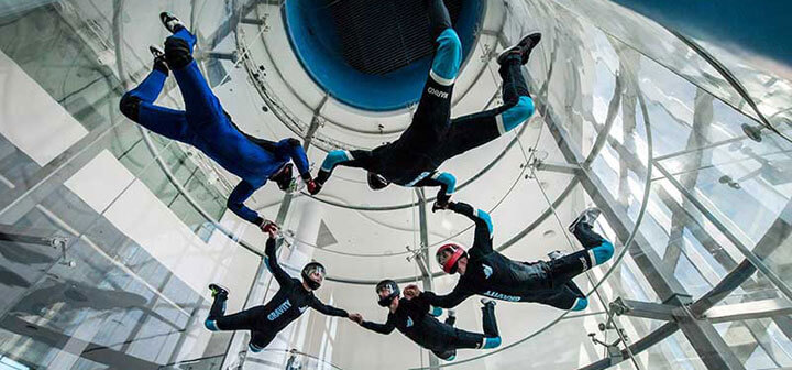 Early Flights in the new Gravity Indoor Skydiving Wind Tunnel