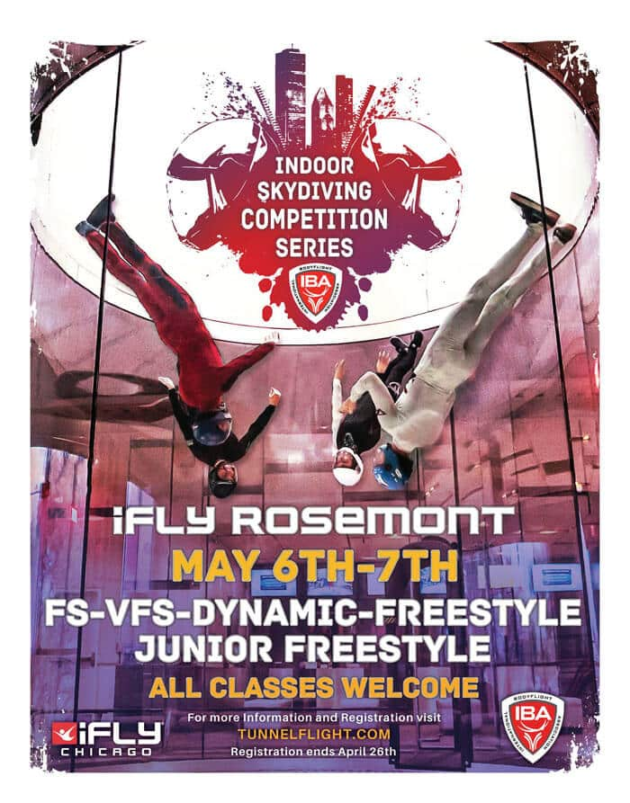 iFLY Rosemont IBA Tunnel Competition Flyer