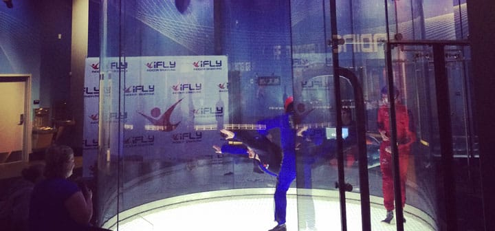 iFLY Woodlands Flyer Comparison Photo
