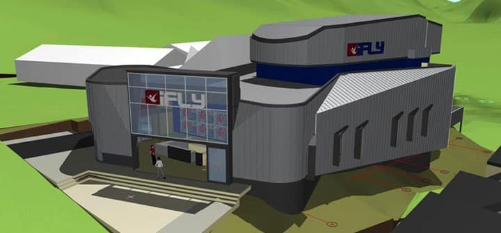 Rendering of Proposed iFLY Facility
