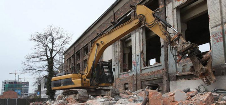 Clearing Rubble in Katowice