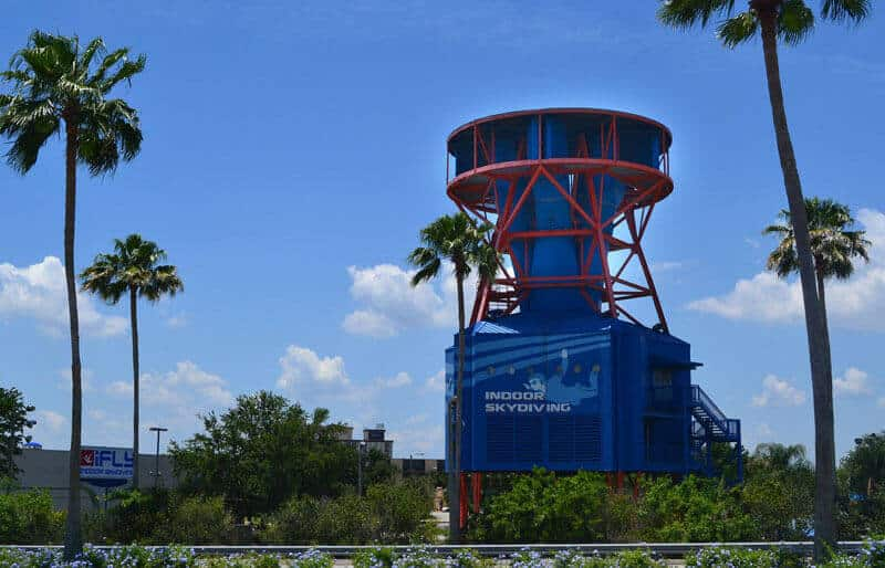 Photo of the original iFLY Orlando facility which opened in 1999