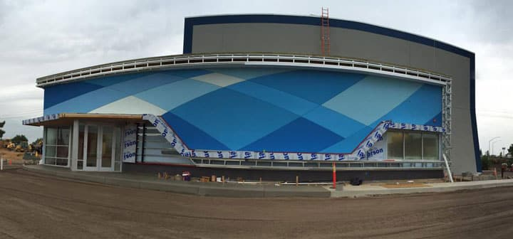 Nearly Complete Exterior at iFLY Sacramento