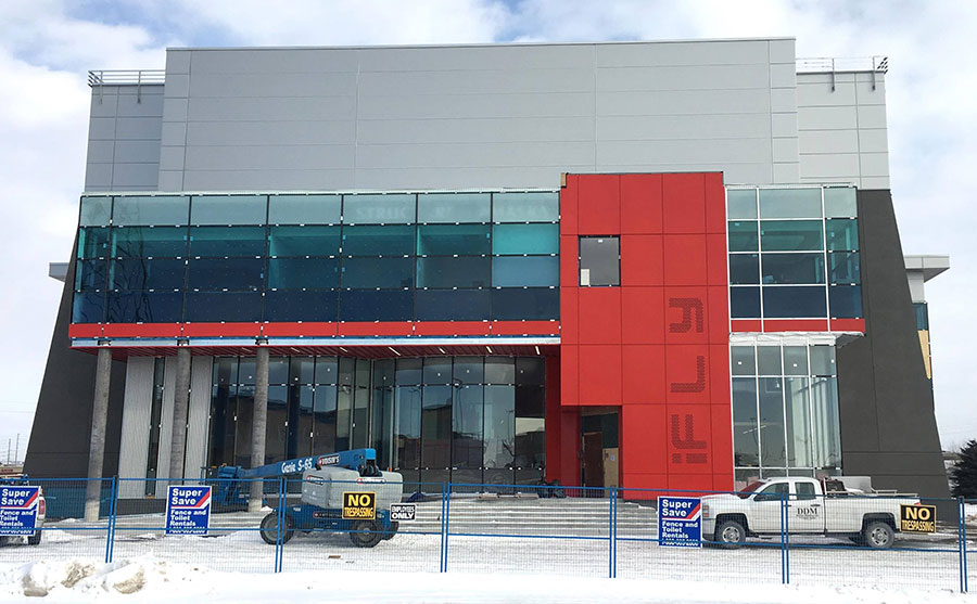 iFLY Toronto in Whitby exterior construction progress shot