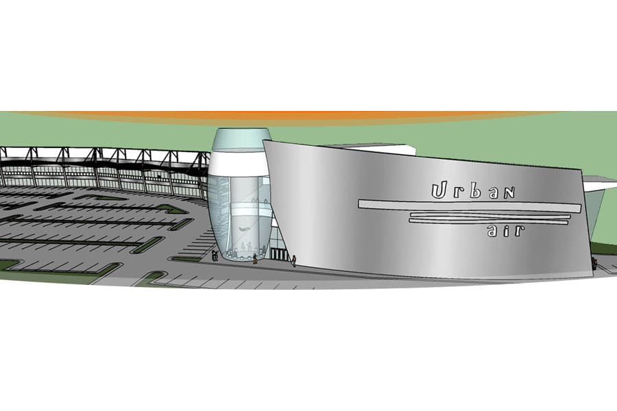 Urban Air Park Oklahoma City Wind Tunnel Rendering
