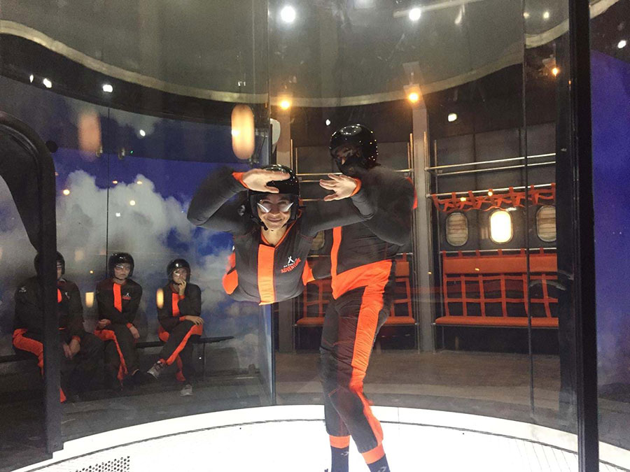 Flyers in Bear Grylls iFLY