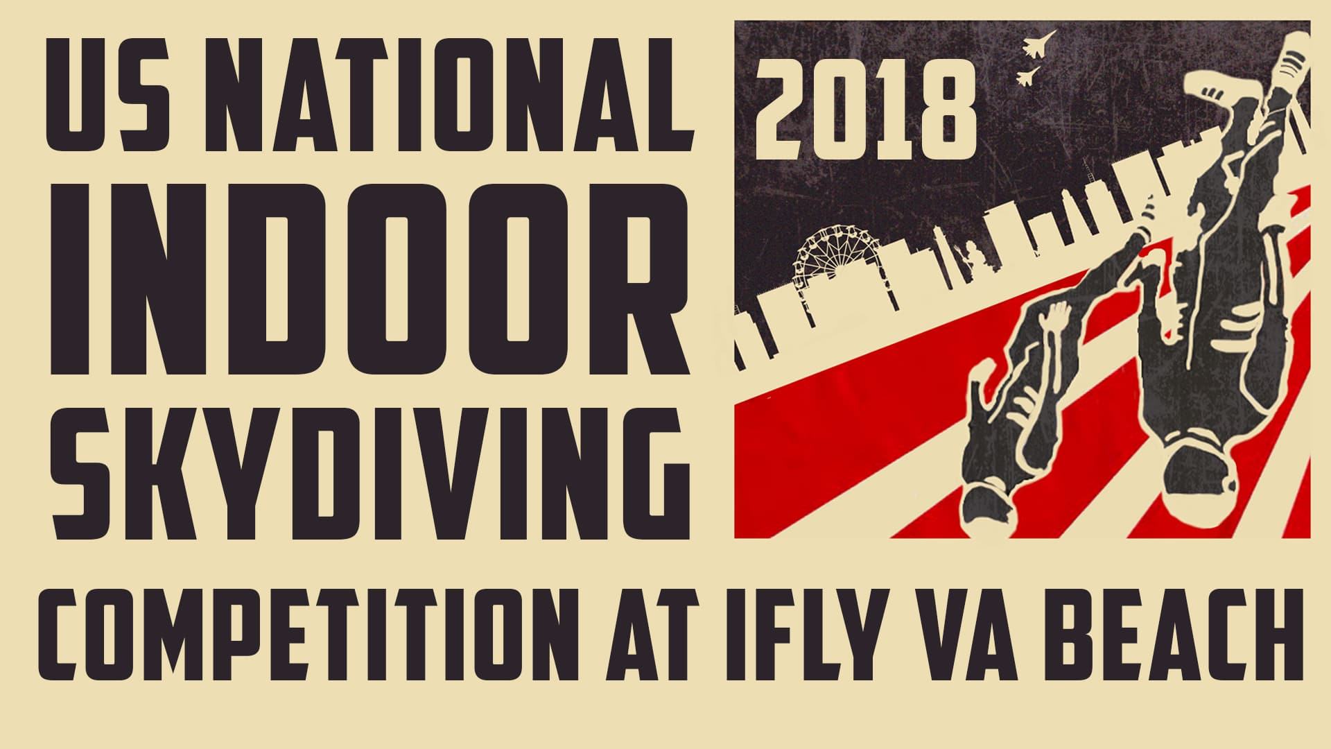 2018 US National Indoor Skydiving Competition Flyer