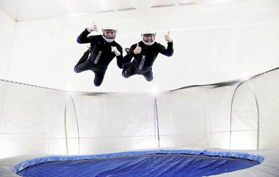 Flyers in Vertigo Indoor Skydiving