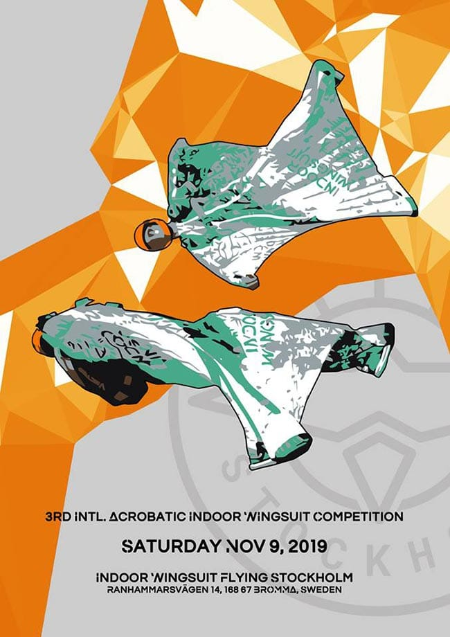 2019 3rd International Indoor Acrobatic Wingsuit Competition Flyer
