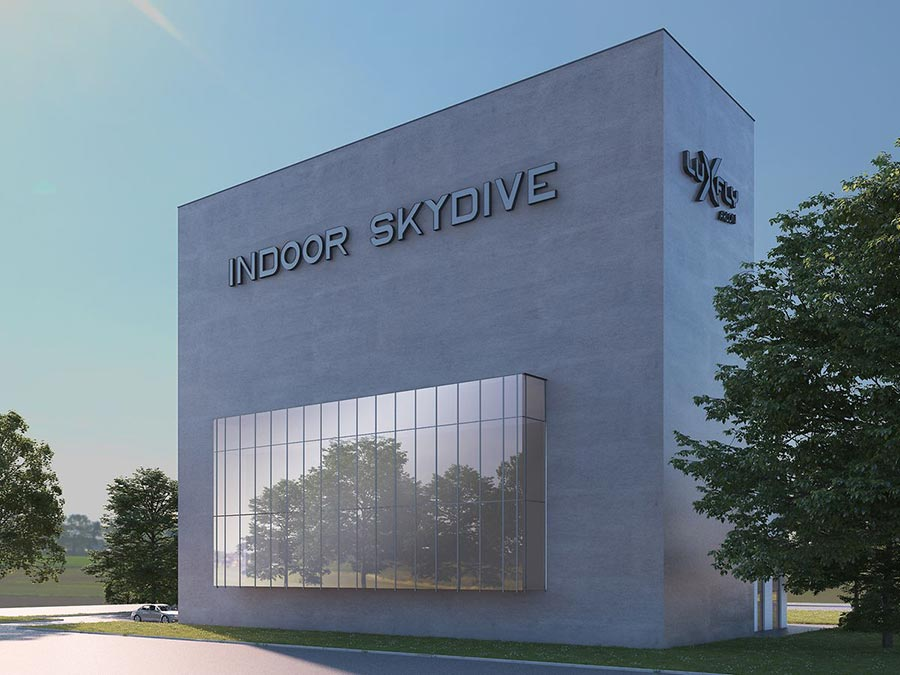 Luxfly Skydive Facility Rendering